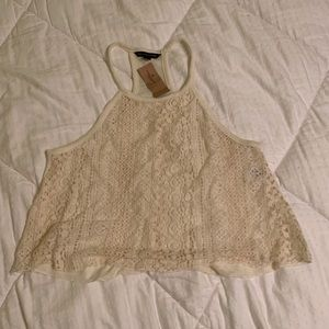 AE lace crop top NWT
